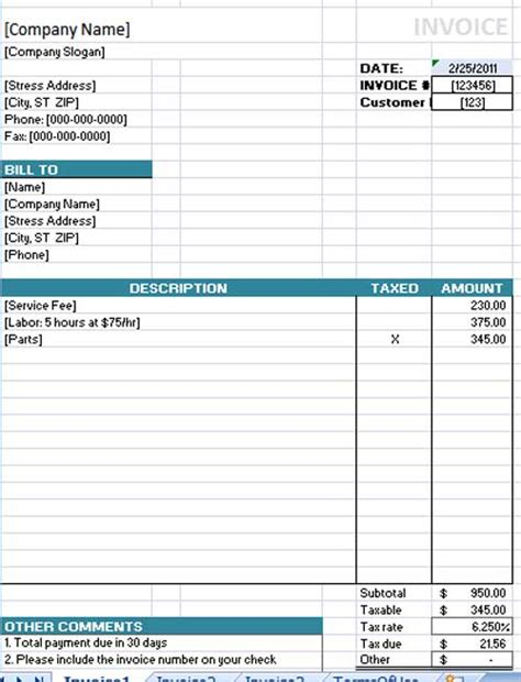 invoice word template free free invoice template cake ideas and designs