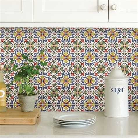 multi color backsplash tile multi color tuscan tile peel stick backsplash tiles nh2365
