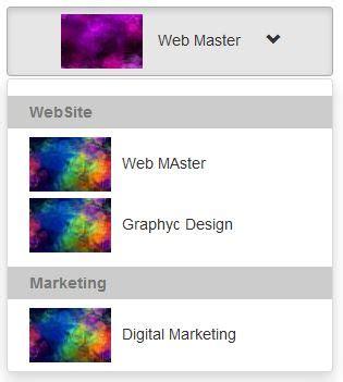 cara mudah membuat layout web dengan css cara membuat dropdown gambar dengan bootstrap