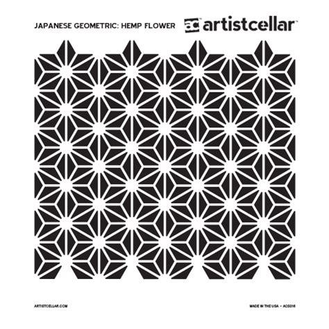 artistcellar japanese geometric series stencils