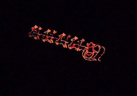 santa sleigh christmas lights free stock photo public