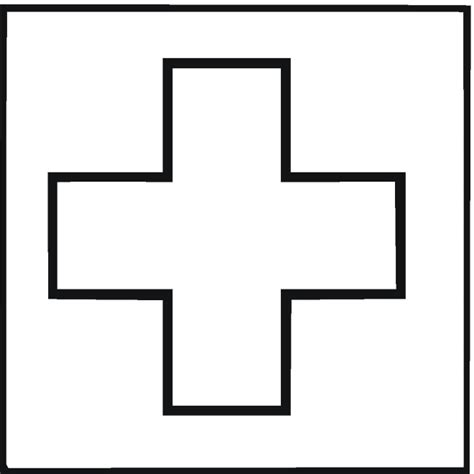 free coloring pages of first aid symbol