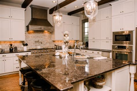 white kitchen tour guest countertops slate backsplash my houzz schranz tour traditional kitchen