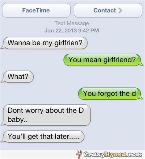 funny dirty joke on a text message you mean girlfriend