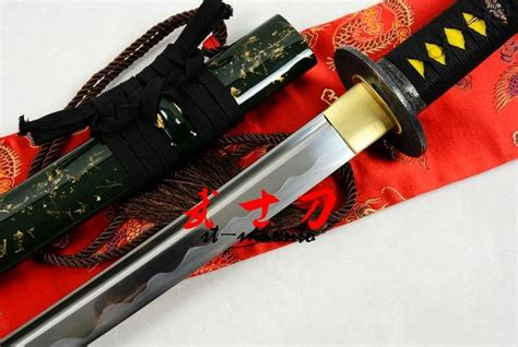 Handmade Battle Ready Swords - handmade green japanese battle ready 9260 steel