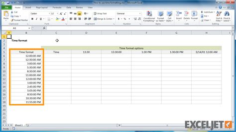 format excel military time convert military time to standard in excel 5 best images