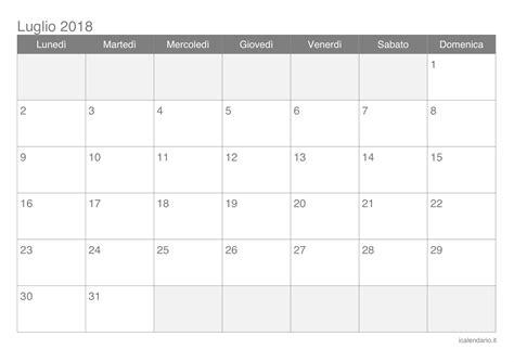 Via Icalendrier 2018 Calendario Luglio 2018 Da Stare Icalendario It