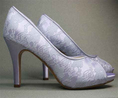 Lilac Shoes For Wedding wedding shoes lilac peep toe wedding shoes by