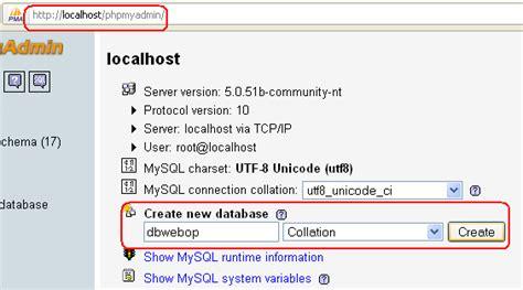 membuat database opencart instalasi opencart di localhost
