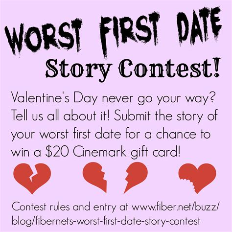 Your Dating Story And Win by Fibernet S Worst Date Story Contest