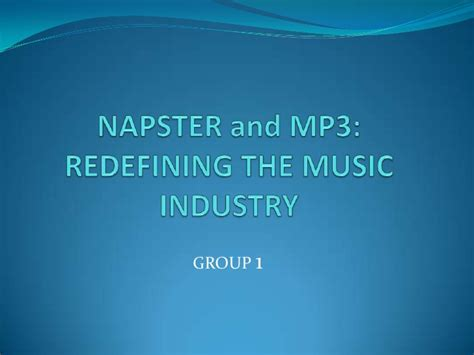 download mp3 from napster napster and mp3 redefining the music industry