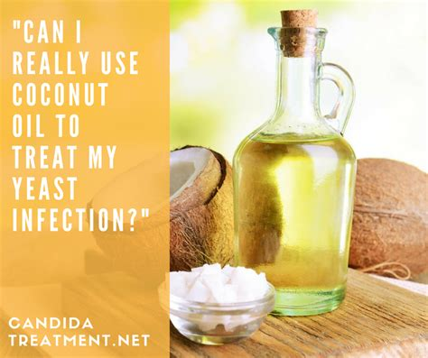 can i put coconut on my can i use coconut to treat my yeast infection candida treatment