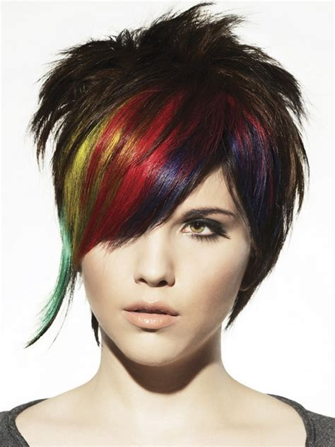 new rock hair styles with lines punk hair styles latest trends 2014 for boys and girls