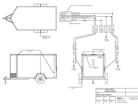 enclosed trailer wiring diagram 7 way trailer wiring