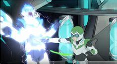 Electric Shock In Blue Green pidge trying to defend herself with green bayard