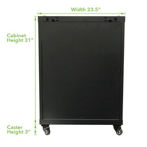 24 inch wall cabinet 15u wall mount server data cabinet 24 inch depth glass door lock key w casters ebay