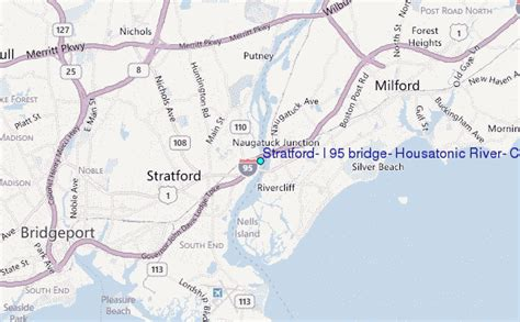 housatonic river map stratford i 95 bridge housatonic river connecticut tide