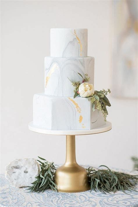 trending  creative metallic wedding cakes