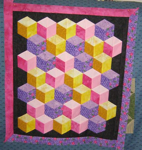 Free Quilt Block Patterns Free Tumbling Block Quilt Pattern Free Patterns