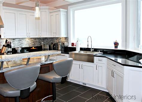 white cabinets with marble countertops chef s white kitchen with marble and granite