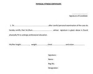 6 fitness certificate templates certificate templates