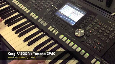 Keyboard Yamaha S950 Baru korg pa900 vs yamaha s950 keyboard demo