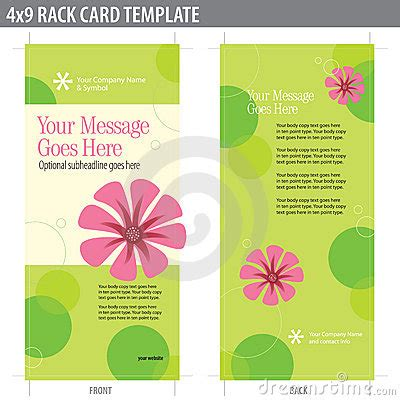 4 x 9 vertical rack cards templates 4x9 rack card brochure template royalty free stock image