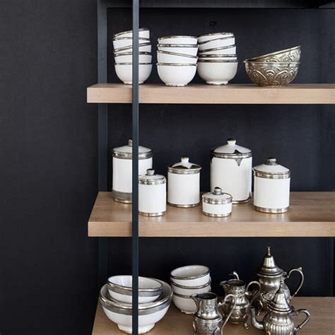 Putting It Together Moroccan by Moroccan Tadelakt Ceramic Canister With Silver Trim Shop