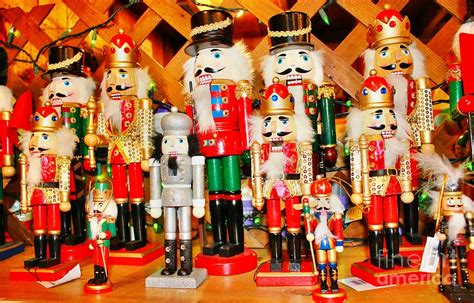 christmas nutcrackers photograph by judy palkimas