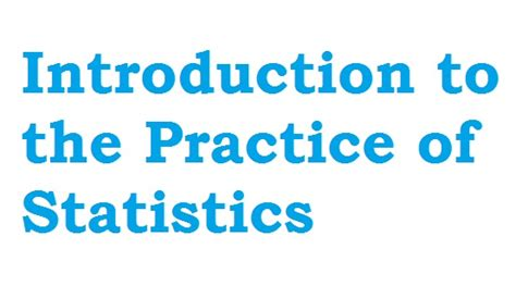 practice of statistics in the sciences books introduction to the practice of statistics 8th edition pdf