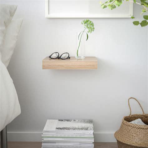 lack wall shelf white stained oak effect
