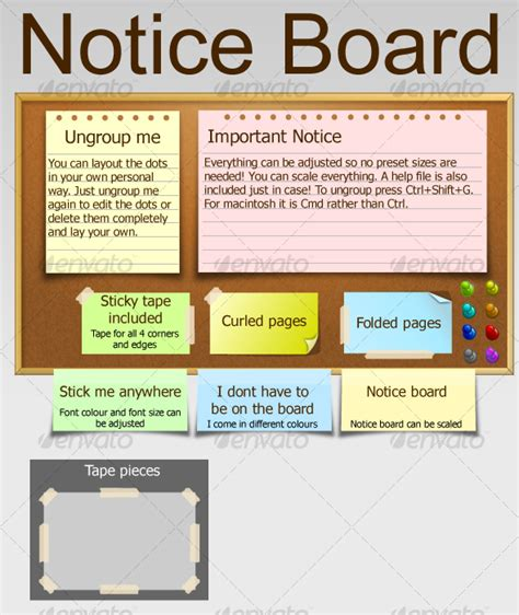 notice board design powerpoint notice board by umbot graphicriver