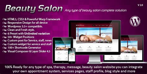 wordpress themes free beauty salon beauty salon responsive wordpress template reviewtheme
