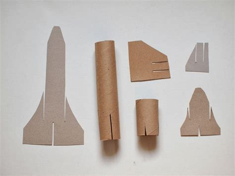 Cardboard Paper Craft - cardboard space shuttle craft template included pink