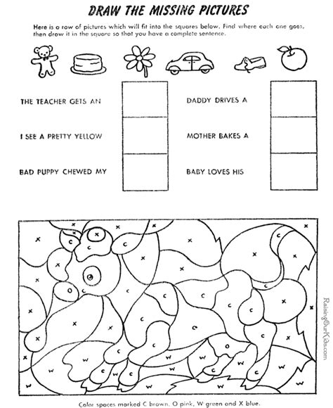 Free Color By Number For Kids 012 Colour Activities For Children