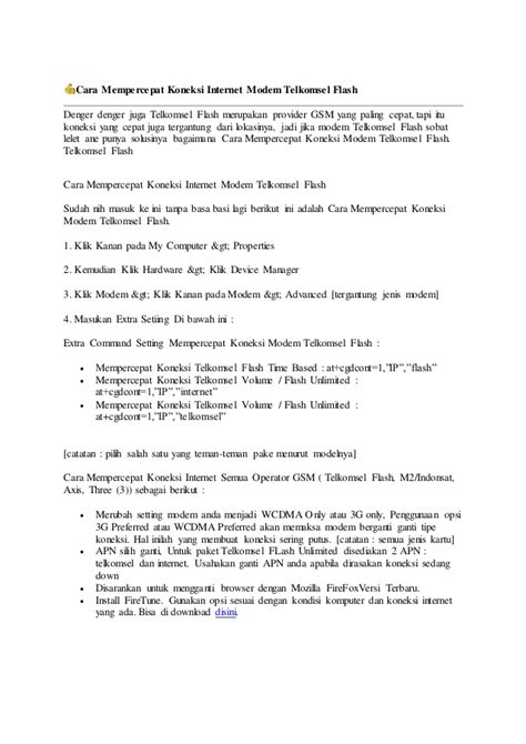 Modem Telkomsel Flash Ml 37 cara mempercepat koneksi modem telkomsel flash