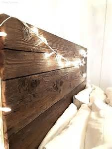 Rustic Wood Headboard Rustic Headboard With Hanging Bedside Table Hometalk