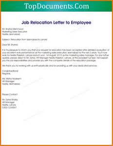 Letter Business Moving Address 4 Job Letter From Employer Appeal Letters Sample