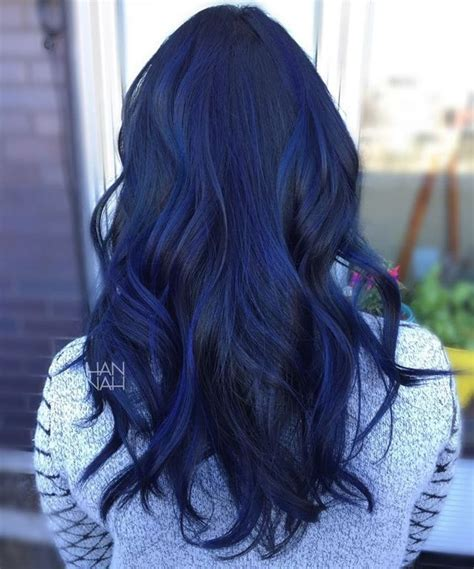 sapphire black hair color blue sapphire balayage fancyfollicles hair pinterest