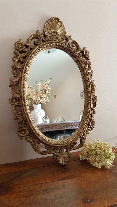 wall decor mirror home accents vintage ornate oval mirror mirror wall decor home decor