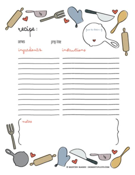 Cool Recipe Card Template by Free Recipe Card Printables Yesterday On Tuesday