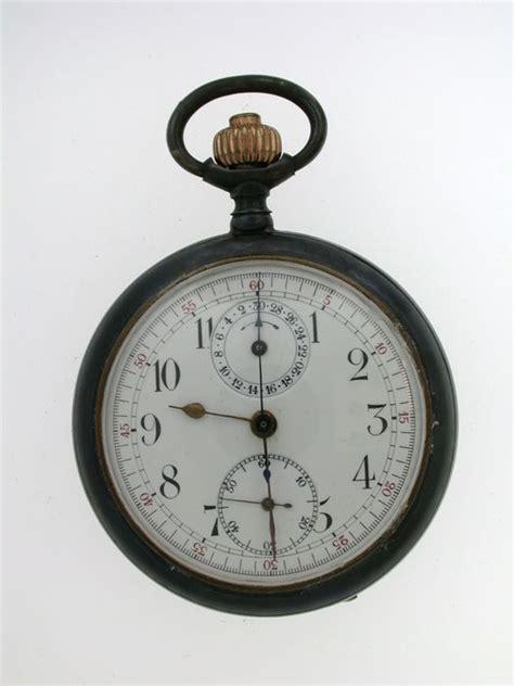 gunmetal swiss chronograph pocket 1880 catawiki