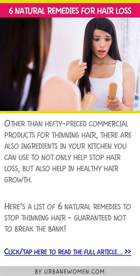 natural remedies  hair loss natural remedies