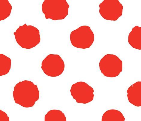 painted white polka dot on polka dot on white grunge paint brush fabric