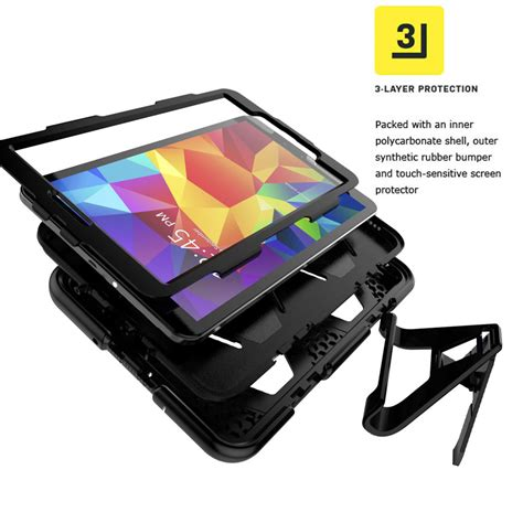 Samsung Galaxy Tab S2 8 9 7 Hardcase Kickstand Cover Rugged Armor shockproof rugged protector cover stand for samsung galaxy tab s2 9 7 quot ebay
