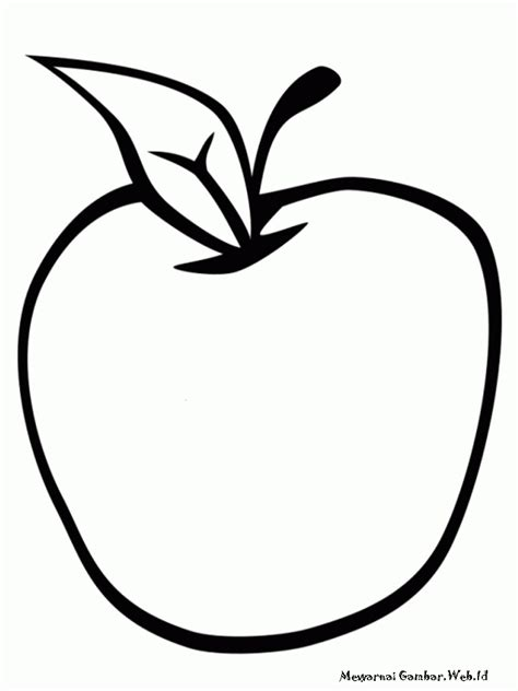 Buah Apel free coloring pages of gambar buah