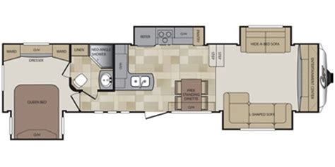 Front Living Room 5th Wheel Floor Plans by 2014 Keystone 337fls Trailer Reviews Prices And
