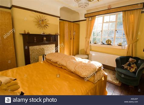 art deco house interior refurbished art deco art nouveau 1930 s house interior bedroom stock photo royalty