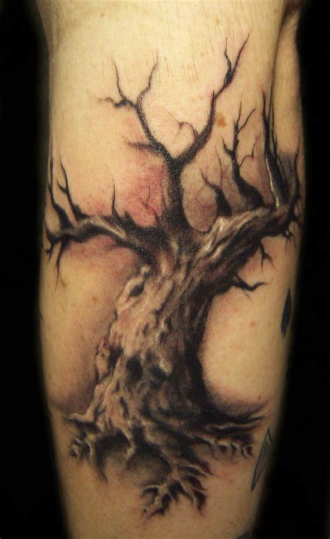 oak tree tattoo by hatefulss on deviantart