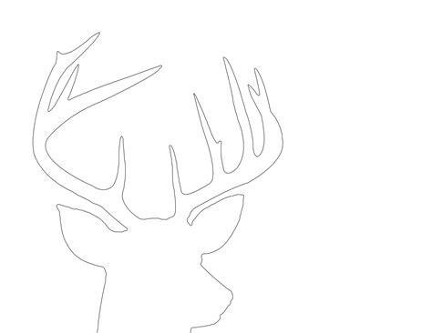 large printable reindeer head deer head stencil